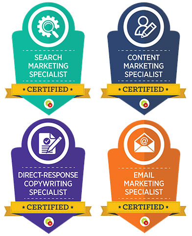 digital marketing certification badges Whtite bg.